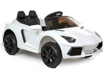 Ride on Car 12v Electric Lamborghini Aventador Style with Parental Control White